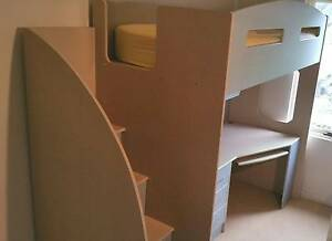 Single bunk bed loft style, with desk, wardrobe and storage Bondi Junction Eastern Suburbs Preview
