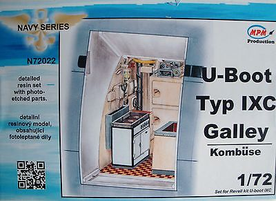 "MPM 72022 Detail Resin Set ""Galley"" for Revell® U-Boot IXC in 1:72"