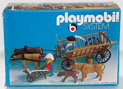 LEITERWAGEN OCHSENKARREN Playmobil 3503 System Klicky zu Bauern Ritter OVP NEU