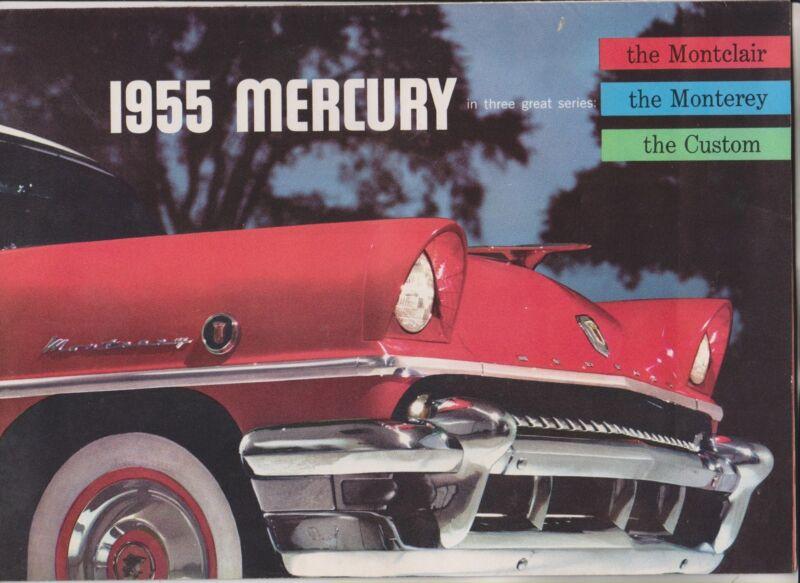 1955 SALES BROCHURE - MERCURY - MONTCLAIR MONTEREY CUSTOM