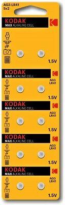 Pila KODAK AG3 LR41 - Alcalina - Calculadoras Relojes - Pack De...