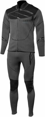 Slippery Wetsuit - Breaker John & Jacket Combo (Black/Charcoal Gray) L (Large)