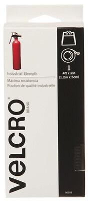 Velcro Brand Industrial Strength Heavy Duty Hook & Loop Black Tape 4ft x 2in 2in Loop Tape