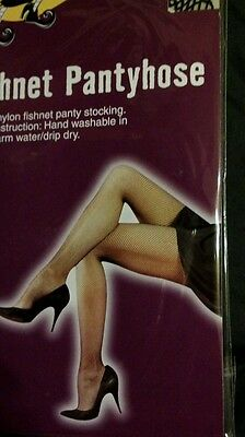 Fish Net Hose (Black fish  net  stocking Plus size  panty hose New 1 size fits  most )