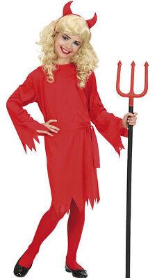 Teufelin Kostüm für Mädchen, Kinder Teufelskostüm Halloween, Gr. 128 / 5-7Jahre