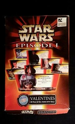 32 Star Wars Valentine Day Cards & Seals Box  damage - Star Wars Valentine Box