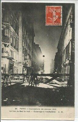 paris inondé -la rue du bac- éclairage àl'acétylène. for sale  Shipping to South Africa