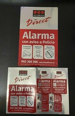 Placa alarma disuasoria mediana + pegatinas Securitas Direct. MODELO 2019