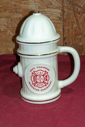 Old Starcrest USA Giant Fire Department Hydrant FD Plug Beer Mug Stein Big Large