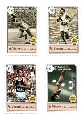 St. Vincent 1994 SC# 2102-5 Olympics, Gold Medalists - Set of 4 Stamps - MNH