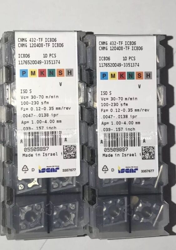Brand New!!!!CNMG 432 TF IC806 ISCAR *** 10 INSERTS *** FACTORY PACK ***