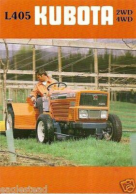 Farm Tractor Brochure - Kubota - L405 - Orchard Fb579