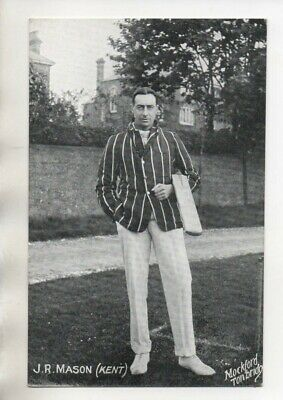 Vintage Mockford Cricket Postcard -  Kent - J R Mason