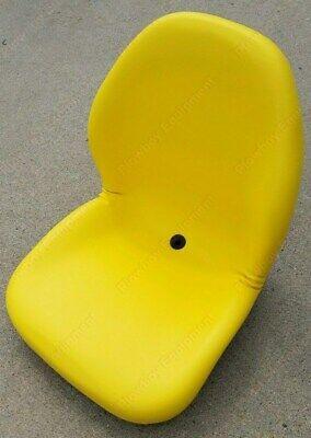 Yellow Vinyl Seat For Lawn Mower Skid Steer Utv Compact Tractor John Deere Gator