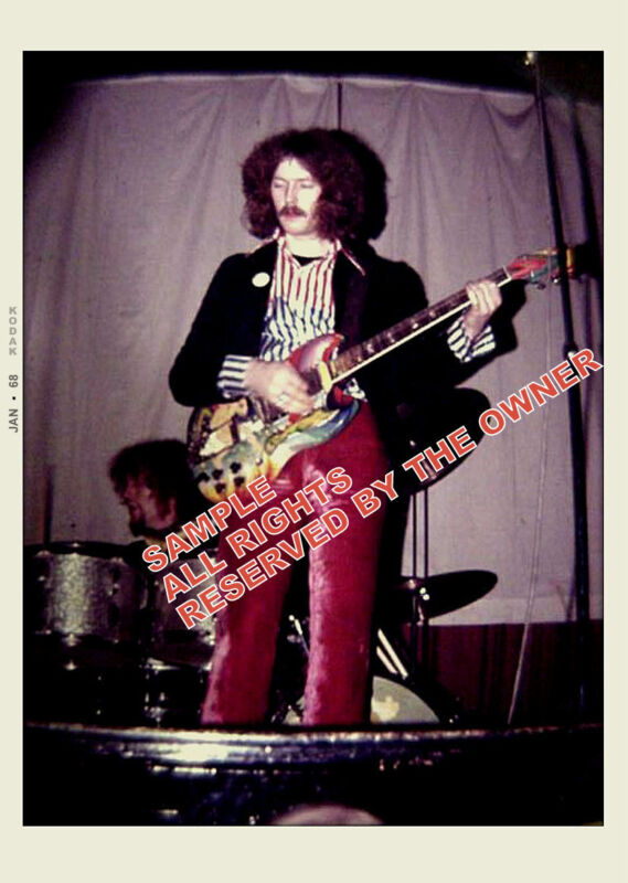 ERIC CLAPTON PHOTO CREAM FOOL PAINTED GUITAR  5 BY 7 NEW snap by fan Unique
