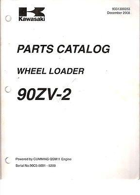 Kawasaki 90zv-2 Wheel Loader Parts Catalog Manual