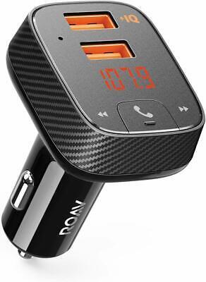Anker Roav SmartCharge F2 Bluetooth FM Transmitter Car Charger, PowerIQ