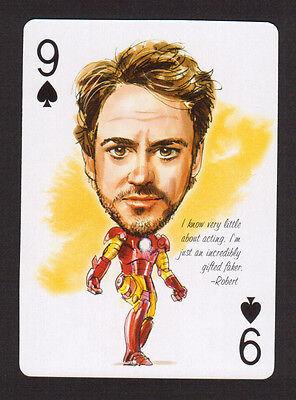 Robert Downey Jr Iron Man Movie Film Star Caricature Playing Card