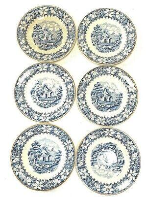 6 Antique Enoch 1784 Ralph 1750 Colonial Woods  & Burslem England, Saucers-Plate