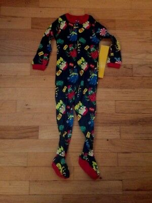Nwt THE CHILDRENS PLACE infant/toddler boys pajama CHRISTMAS MONSTERS 18-24 3T