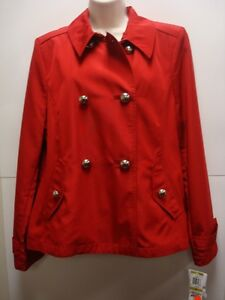 NWT-Charter-Club-Red-Jacket-Double-Breasted-Sz14-Retails-129-Nice