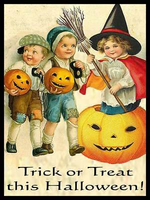 Trick or Treating Vintage Children