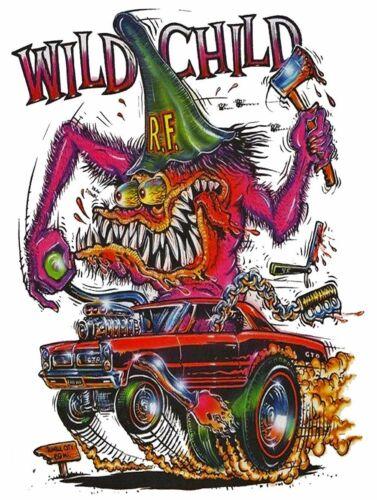 Rat Fink Wild Child Metal Sign