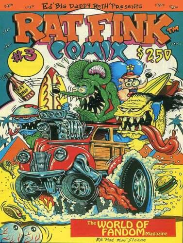 Rat Fink Comix #3 Big Daddy Ed Roth Metal Sign
