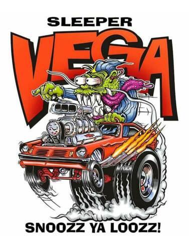 Sleeper Vega Ya Snooze Ya Lose Rat Fink Monster Big Daddy Ed Roth Metal Sign