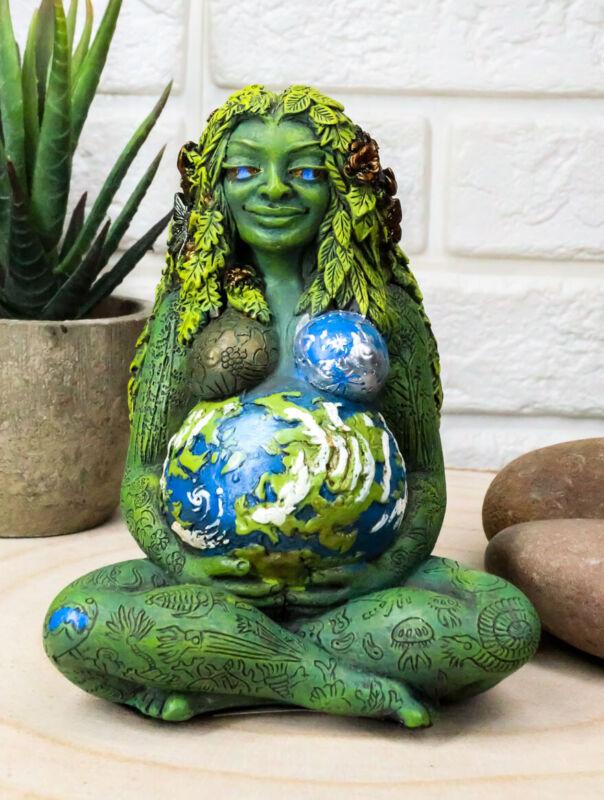 "Ebros Oberon Zell Millennial Gaia Mother Goddess Te Fiti Miniature Figurine 4""H"