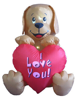 Valentine's Lighted Air Blown Inflatable Yard Decoration Puppy with Love Message](Valentine Inflatable)