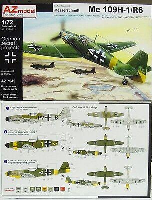 Neuheit Waffen (Me 109 H-1 /R6 Luftwaffe Projekt , AZ Model, 1:72, Plastikmodellbausatz, Neuheit)