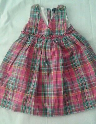 Spring Summer Easter Dress - BABY GIRLS CHAPS PINK PLAID EASTER OR SPRING SUMMER SLEEVELESS DRESS SIZE 3 T