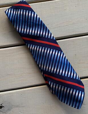 1960s – 70s Men's Ties | Skinny Ties, Slim Ties Wemlon Wembley Men's Tie Blue White Red Striped Necktie 1960's $10.00 AT vintagedancer.com