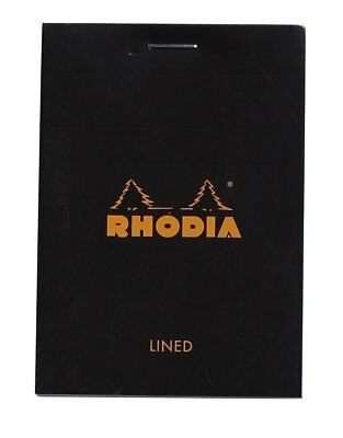 Rhodia Staplebound - Notepad - Black - Lined - 80 Sheets - 3 X 4 - New R116009