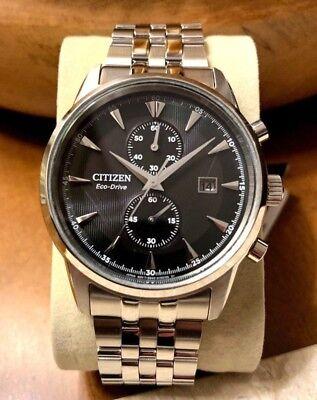 Citizen Eco-Drive Men's CA7000-55E Corso Watch Black Solar Day Date Chronograph