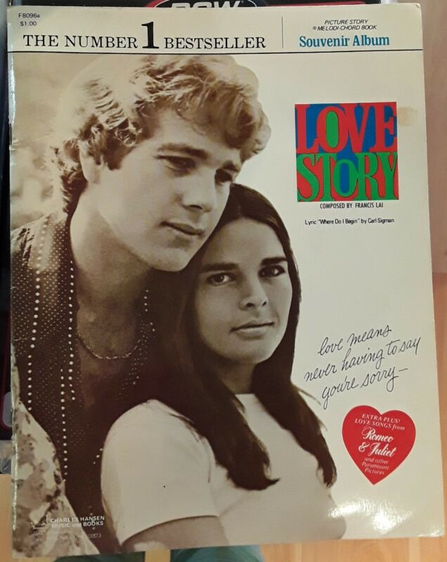 movie theme Love Story by Francis Lai music sheet book John Brimhall