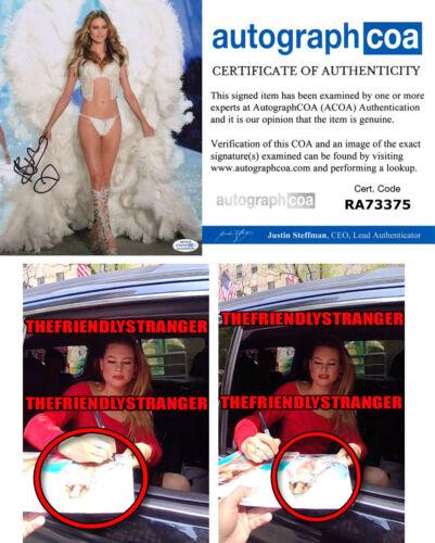 "BEHATI PRINSLOO signed ""VICTORIA'S SECRET ANGEL"" 8X10 PHOTO Exact Proof ACOA COA"