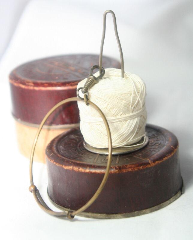 Original ANTIQUE c1900~~Wristelet Crochet Ball SPOOL KNAVE & String Detangler
