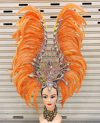 Da NeeNa H738 Diamond Queen Crystal Dance Vegas Showgirl Pageant Headdress - Crystal Queen Kostüm