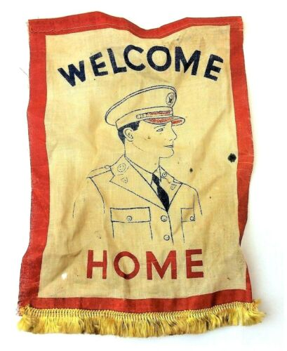 World War II Welcome Home Veteran Flag Veterans Homecoming Soldier Flag Banner