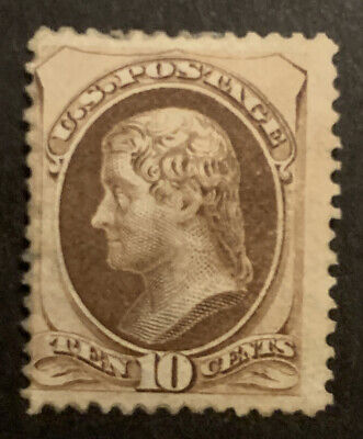 TDStamps: US Stamps Scott#161 Mint OG Small Part Gum Spot Thin on Top Perfs