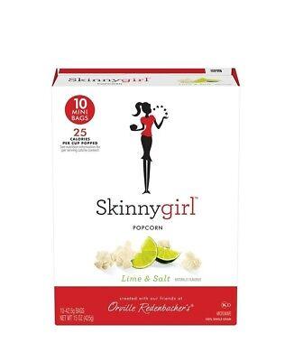Mini Popcorn Bags (Skinnygirl Popcorn Lime & Salt 10 Mini Bags  WORLDWIDE)
