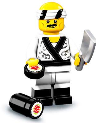 NEW! LEGO Minifigures Ninjago Movie Limited Edition 71019 Sushi Chef Mini Figure