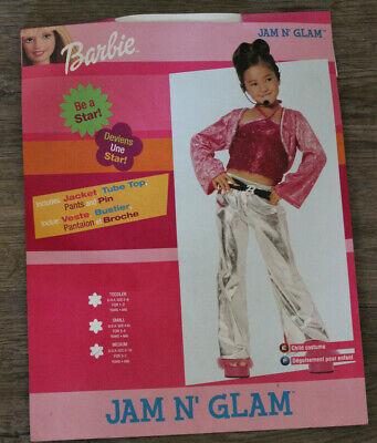 Rubie's Costume Jam n' Glam Barbie Girl Dress up Halloween Costume Sz: M 8-10