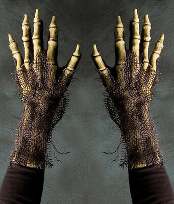 Rotting Skeleton Death Undead Zombie Reaper Hands Adult Halloween Costume Gloves