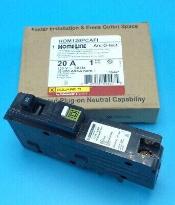 New Circuit Breaker Square D Hom120pcafi 20 Amp Plug On Neutral Please Read