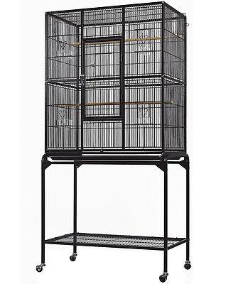 "Everila Bird Parrot Cage 32Lx18Wx63H Bar Spacing 1/2"" Cockatiel Conure Finch"