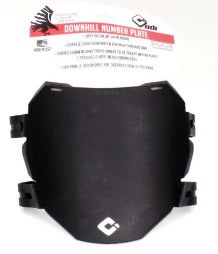 ODI Downhill Number Plate - AG - Black