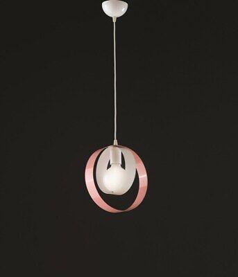 Lámpara de Araña Colgante Moderno Design de Metal Blanco Rosa